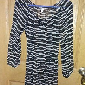 Sexy zebra print sheer dress